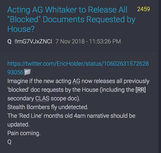 Was passiert, wenn Whitaker die 20 FISA-Seiten freigibt?