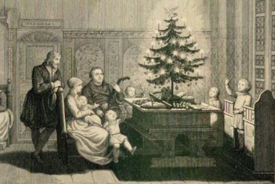 Der erste Weihnachsbaum bei Martin Luther