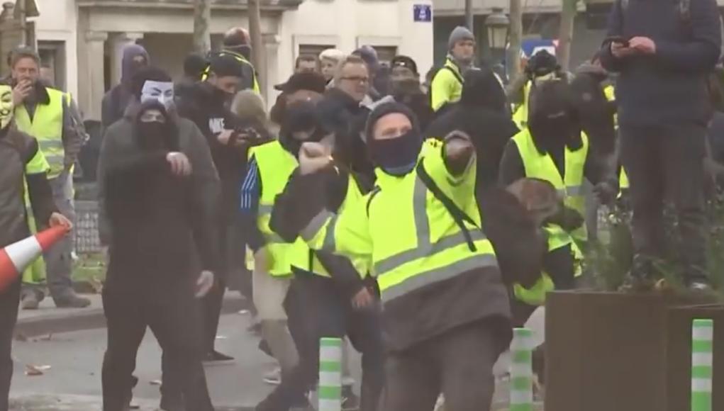 Gewalt in Brüssel bei einer Gelbwestendemo