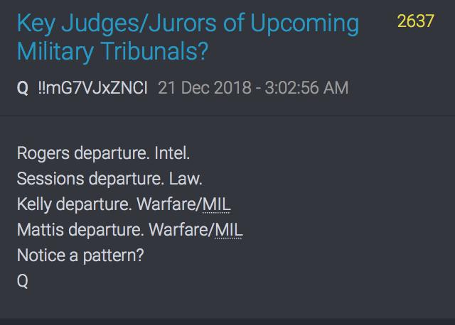 Militärtribunale auf dem Weg