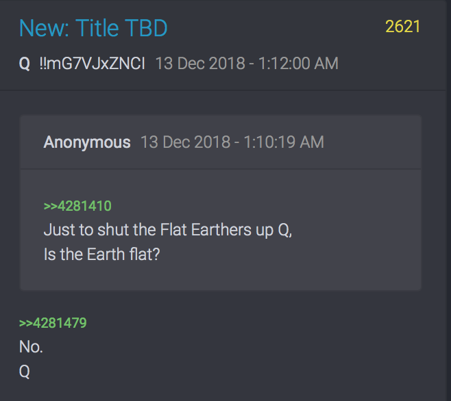 Q No flat Earth