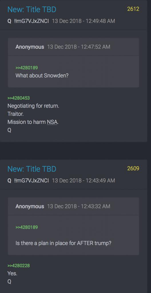 Snowden und Plan nach Trump