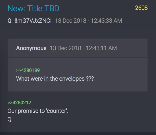 Was war in den Umschlägen?