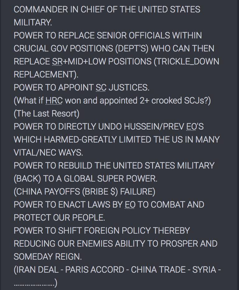 Die Macht des Präsidenten