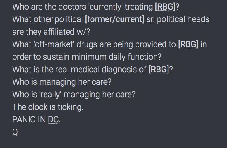 Ruth Bader Ginsburg wird schon länger und alternativ behandelt