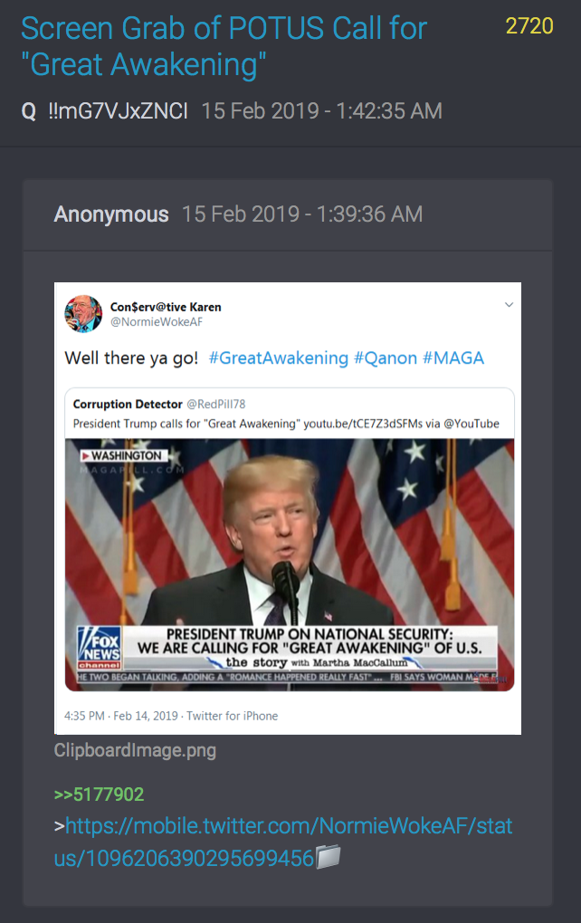 2720 QAnon Great Re-Awakening