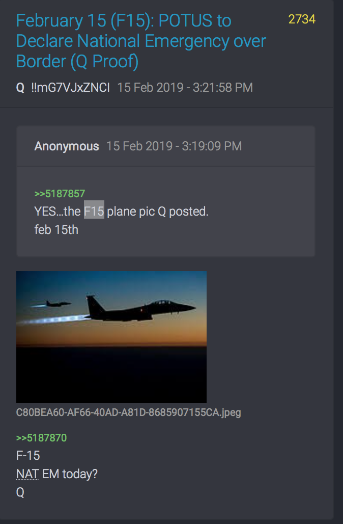 2734 QAnon F-15 National Emergency