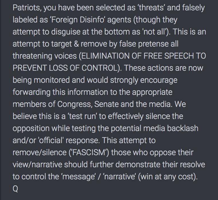 2881 QAnon Wehrt euch gegen Faschismus
