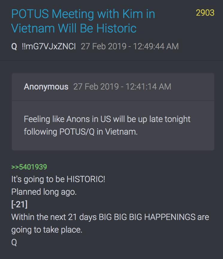 2903 QAnon Die nächsten 21 Tage werden große Dinge passieren