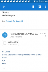 Flesvig Ronald an Linda Forsythe