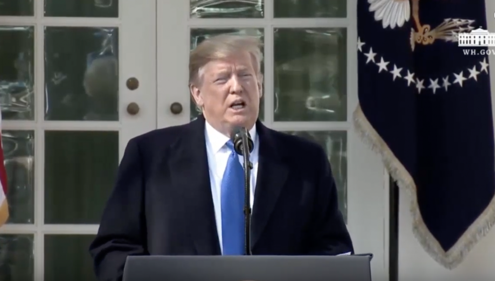 Präsident Donald Trump erklärt den nationalen Notstand