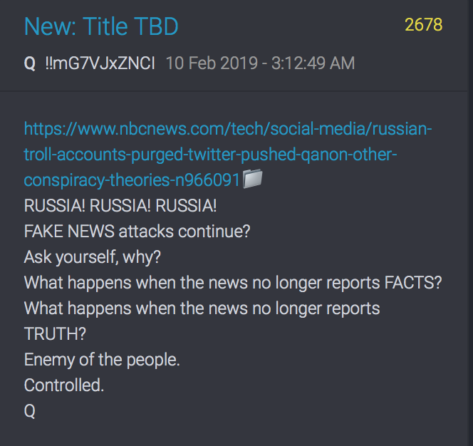 QAnon 2778 Russi Fake News