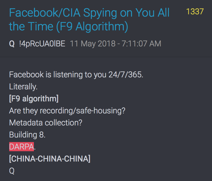 1337 QAnon FB ist CIA und spioniert 24:7