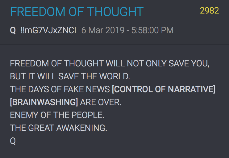 2982 QAnon Freedom of Thought