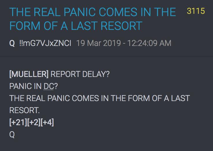 3115 QAnon Mueller Report Verzögerung?