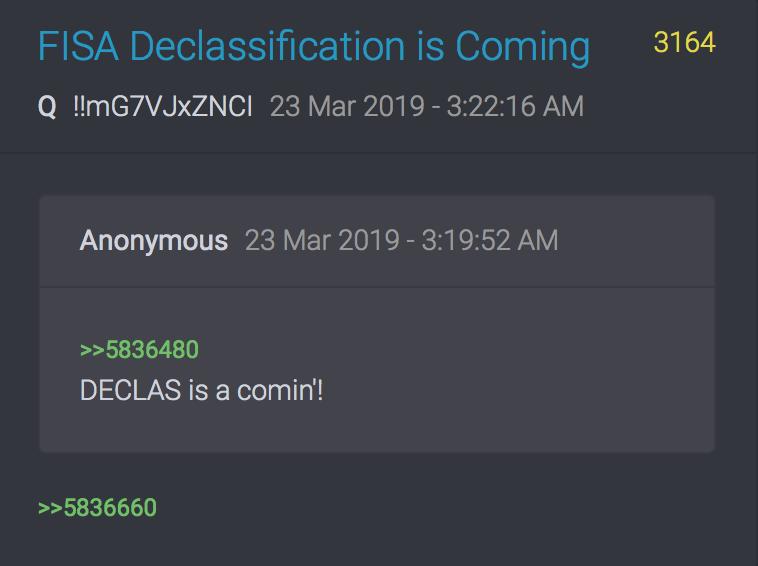 3164 QAnon Deklassifizierung kommt
