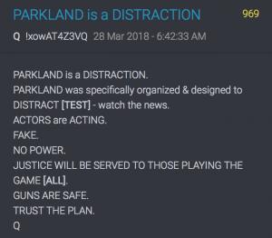 969 QAnon Parkland ist eine Ablenkung