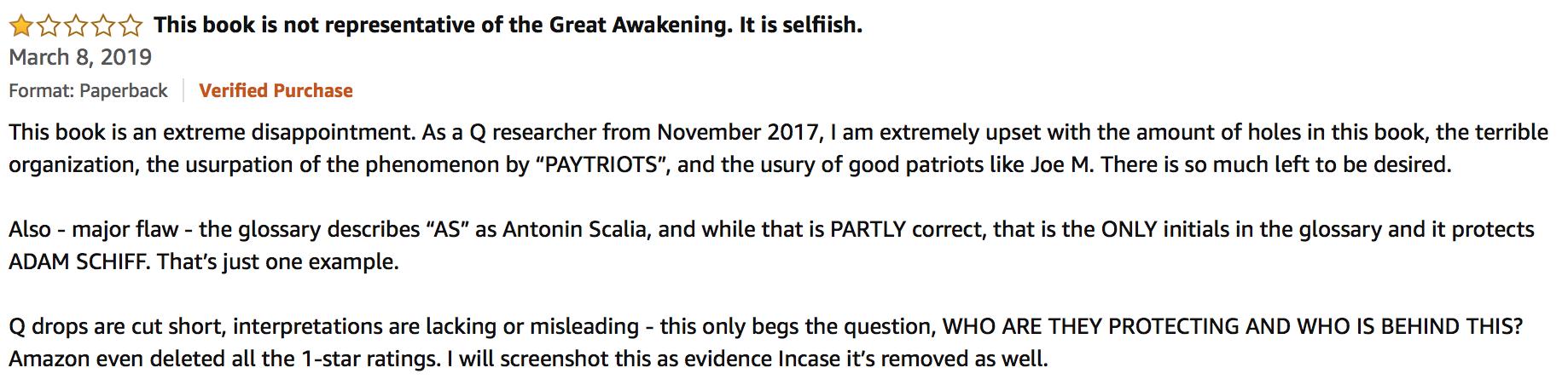 Dieses Buch ist nicht repräsentativ für the Great Awakening
