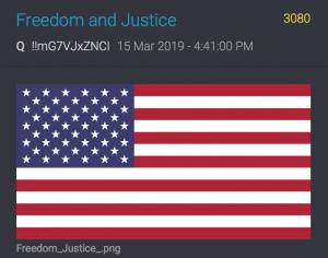 QAnon 3080 Freiheit und Gerechtigkeit