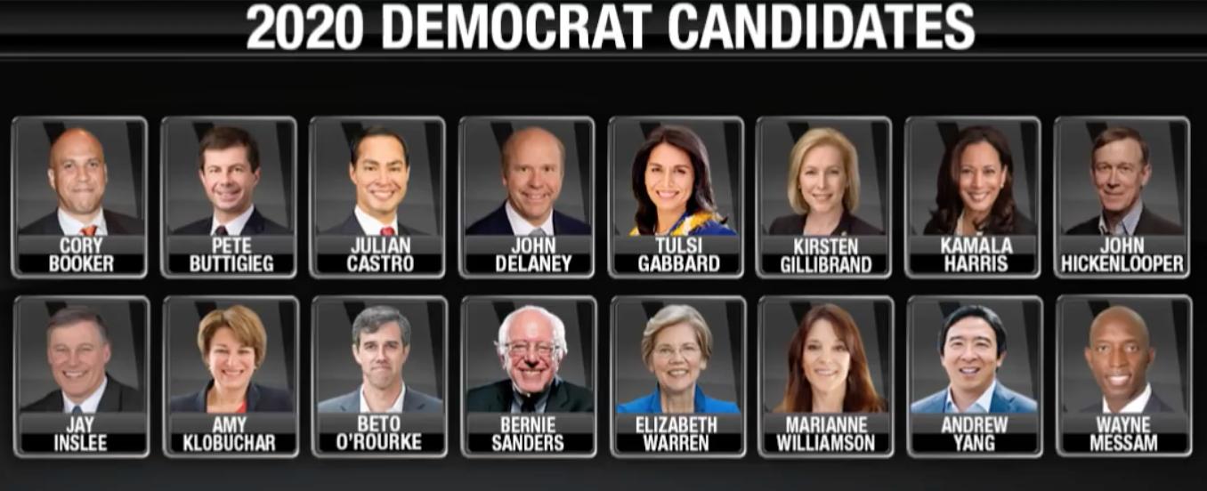 2020 Präsidentschaftskandidaten der Demokraten