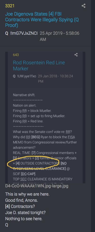 3321 QAnon 4 Subunternehmer für das FBI vom 29.1.18