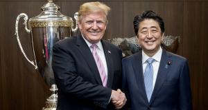 Donald Trump und Ministerpräsident Abe in Tokyo Foto Donald Trump via Twitter