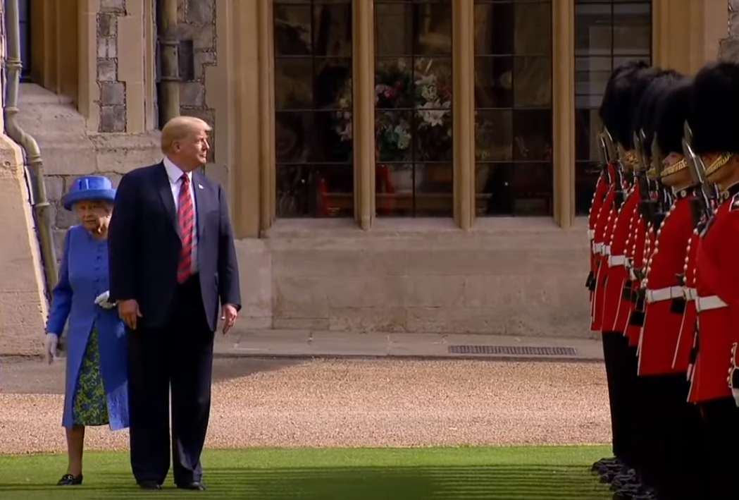2019 Trump auf Staatsbesuch bei der Queen