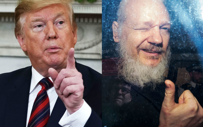 Donald Trump and Julian Assange