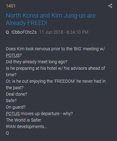 1451 QAnon - Nordkorea und Kim sind bereits frei