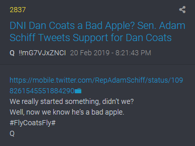 2837 Qanon Dan Coats Black Hat