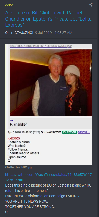 3363 Bill Clinton und Rachel Chandler in Epsteins Flugzeug