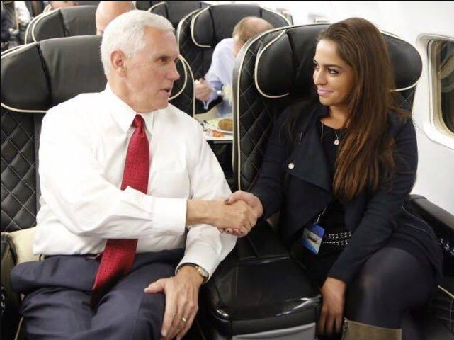 Mike Pence und Adelle Naz