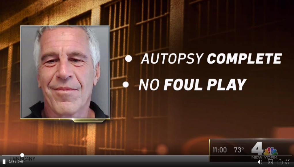 Gerichtsmediziner - keine Fremdeinwirkung bei Epstein