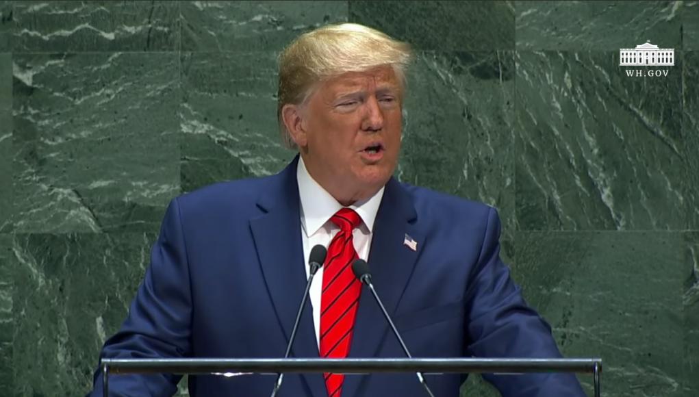 Präsident Donald Trump - Rede vor der 74. UN-Vollversammlung 2019