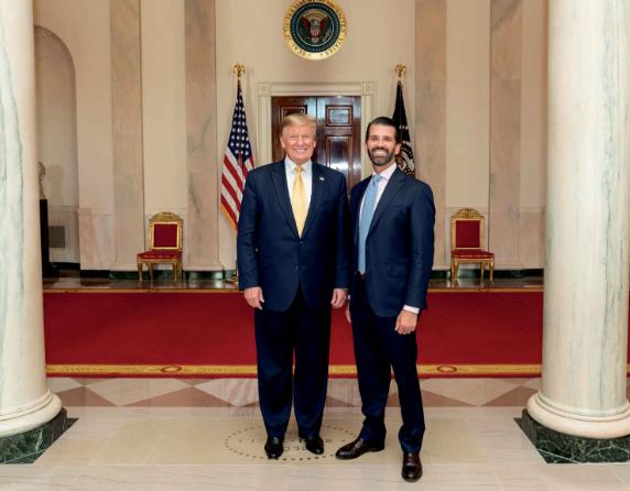 Donald und Donald Trump im Weißen Haus - offizielles WH Foto