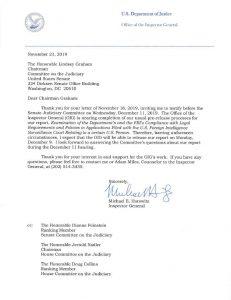Horowitz an Graham FISA Veröffentlichung und Anhörung