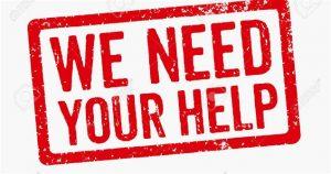 Wir brauchen Ihre Hilfe