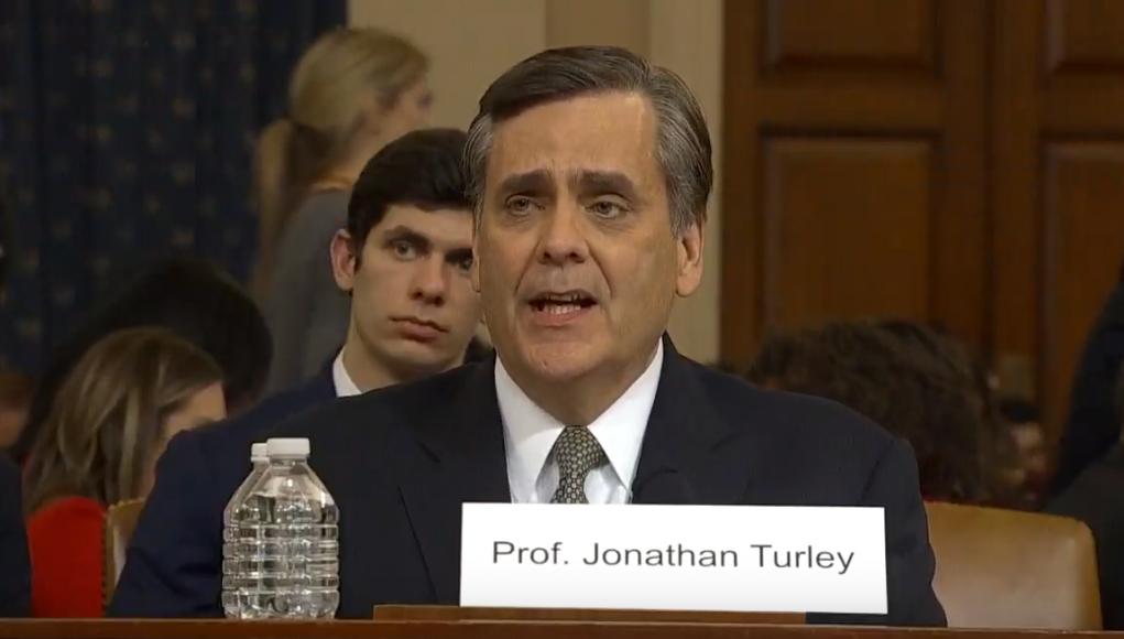Prof. Jonathan Turley Anhörung Impeachment Vorverfahren Donald Trump