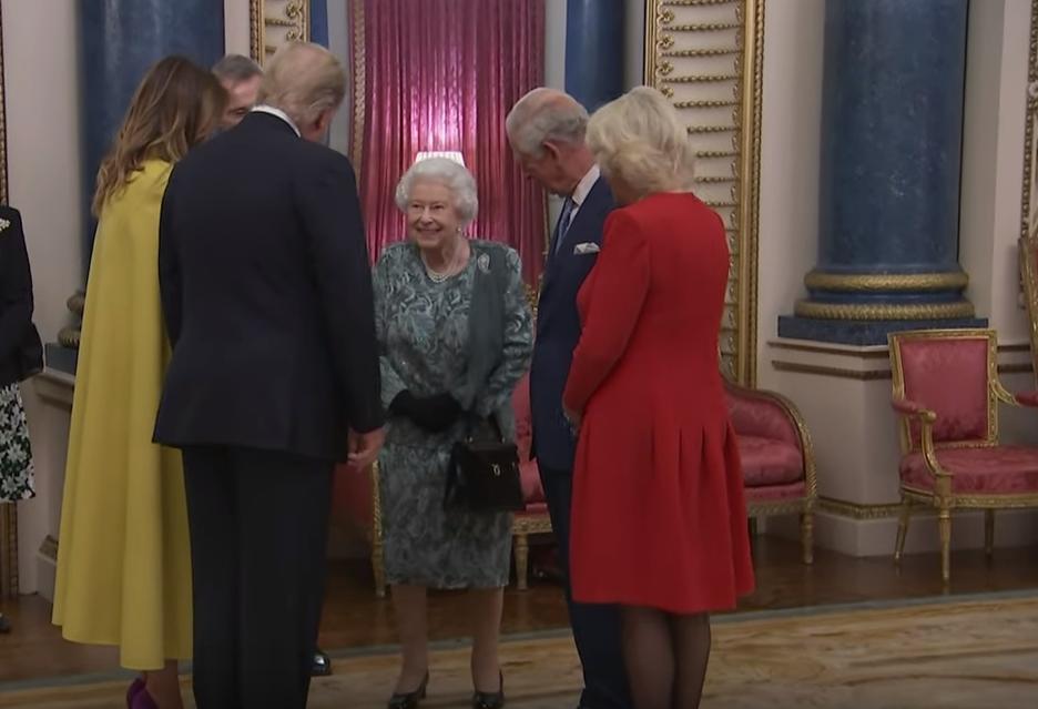 Queen Elizabeth begrüßt Donald und Melania Trump Dezember 2019