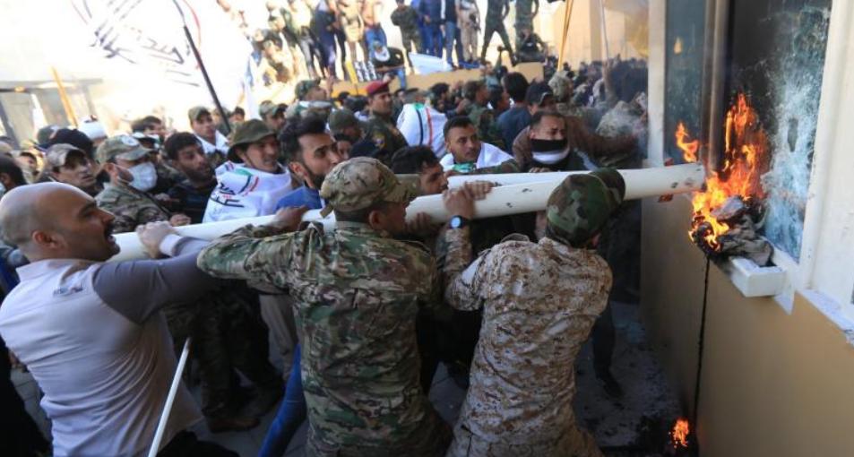 Erstürmung der amerikanischen Botschaft in Bagdad im Januar 2020