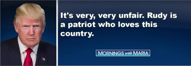Trump zur Durchsuchung bei Rudy Giuliani: Das ist sehr unfair. Rudy ist ein Patriot, der sein Land liebt.